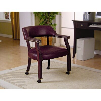 Dedham Home Office Guest Chair Seat Color: Burgundy