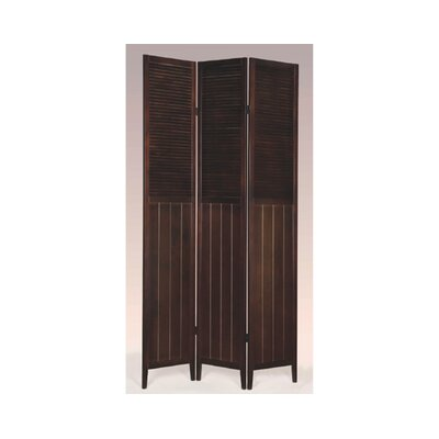 Brigitte 3 Panel Room Divider Finish: Espresso