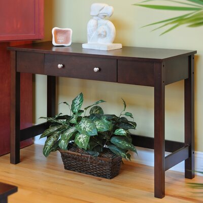 Bay Shore Console Table Color: Espresso