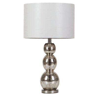 """Wildon Home ® Dover-Foxcroft Metallic 27.5"""" H Table Lamp with Drum Shade"""