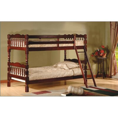 Alexandro Twin over Twin Bunk Bed Color: Cherry