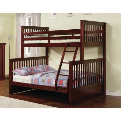 Jamarcus Twin over Full Bunk Bed with Storage Color: Walnut