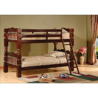 Trystan Twin over Twin Bunk Bed Color: Cherry
