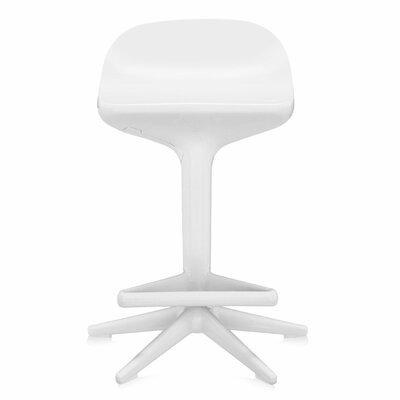 Adjustable Height Swivel Spoon Stool Finish: White