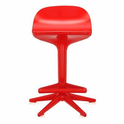Adjustable Height Swivel Spoon Stool Finish: Red