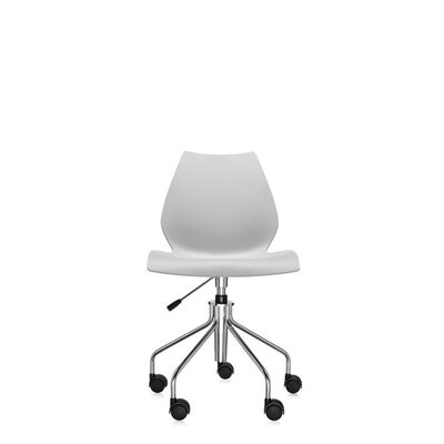 Maui Desk Chair Color: Pale Grey, Height Adjustment: Height Adjustable Swivel Base, Arms: Not Included