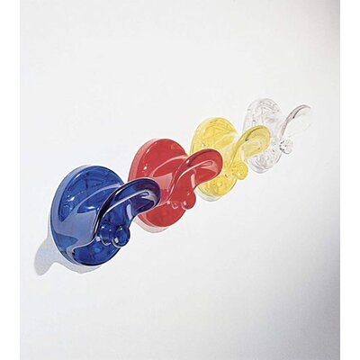 Classic Wall Clothes Hooks (Set of 2) Color: Transparent Citron Yellow