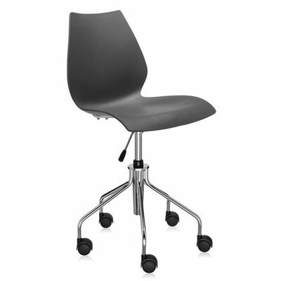 Maui Desk Chair Color: Anthracite, Height Adjustment: Height Adjustable Swivel Base, Arms: Not Included