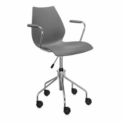 Maui Desk Chair Color: Green, Height Adjustment: Height Adjustable Swivel Base with Arms, Arms: Included