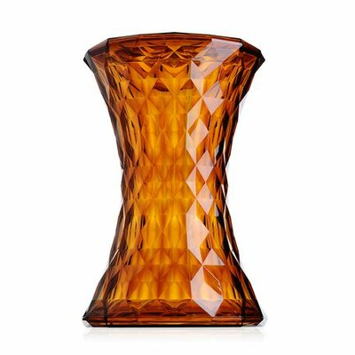 Stone Patio Bar Stool Finish: Amber