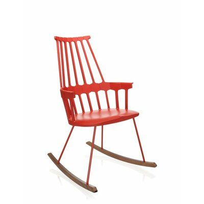 Comeback Rocking Chair Frame Color: Orangey Red