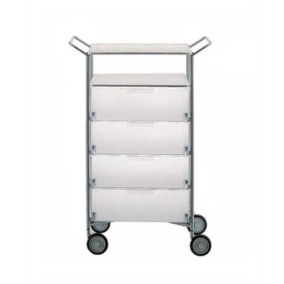 """26.38"""" Mobil Color: Transparent Blue, Style: 4 Drawers with Wheels"""