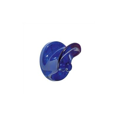 Classic Wall Clothes Hooks (Set of 2) Color: Transparent Cobalt