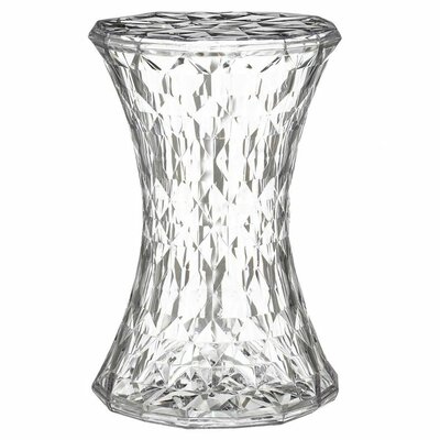 Stone Patio Bar Stool Finish: Crystal Clear