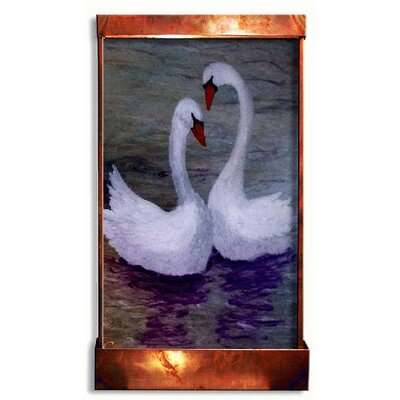 Acrylic/Metal Swan Lake Fountain with LED Light