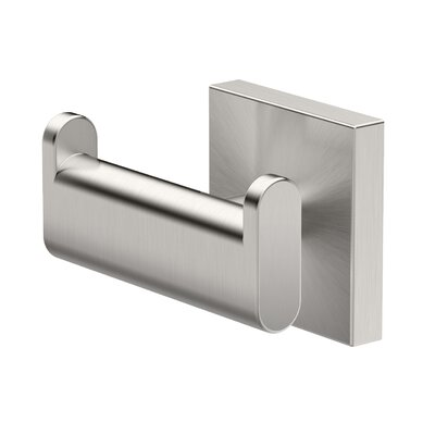 Elevate Double Robe Wall Hook Finish: Satin Nickel