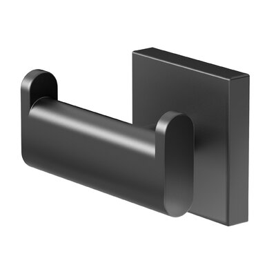 Elevate Double Robe Wall Hook Finish: Matte Black