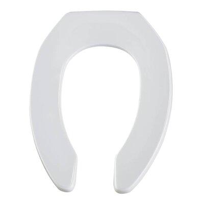 Commercial Plastic Elongated Toilet Seat Finish: White