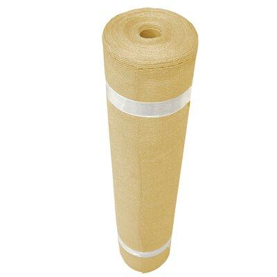 Block Shade Cloth Roll Size: 12' H x 50' W, Finish: Wheat