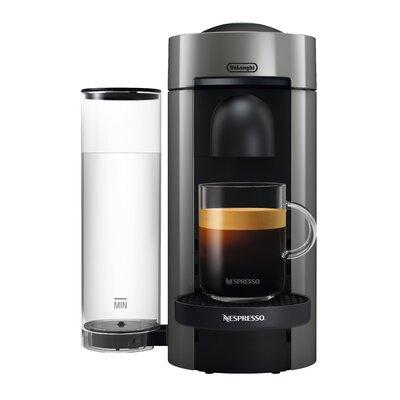 DeLonghi Nespresso Vertuo Plus Coffee and Espresso Single-Serve Machine Finish: Gray