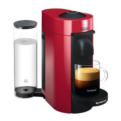 DeLonghi Nespresso Vertuo Plus Coffee and Espresso Single-Serve Machine Finish: Shiny Red