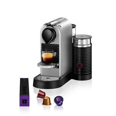 """Breville Nespresso CitiZ's Pod Espresso Machine Size: 10.95"""" H x 8.6"""" W x 14.65"""" D, Color: Silver"""
