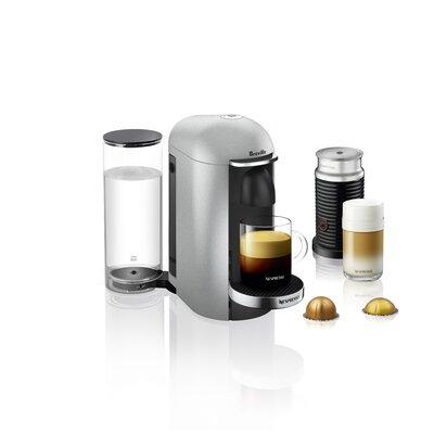 Breville Nespresso VertuoPlus Deluxe Pod Espresso Machine Color: Silver