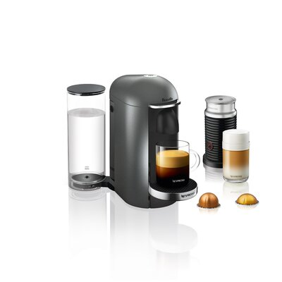 Breville Nespresso VertuoPlus Deluxe Bundle Pod Espresso Machine Color: Titan
