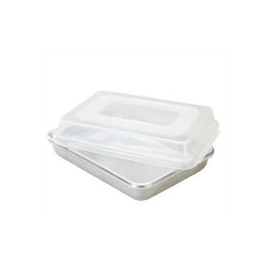 Natural Commercial Rectangular Cake Pan with Lid