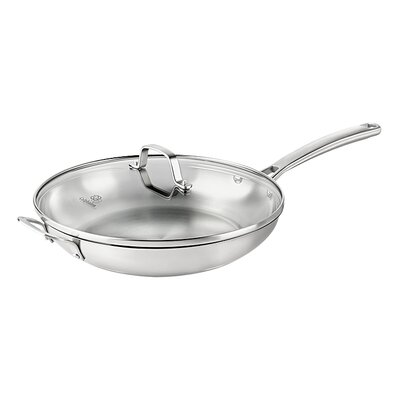 """Calphalon Stainless Steel 12"""" Frying Pan with Lid"""