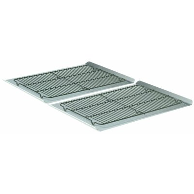 """Calphalon 4 Piece 19"""" Non-Stick Cookie Sheet and Cooling Rack Set"""