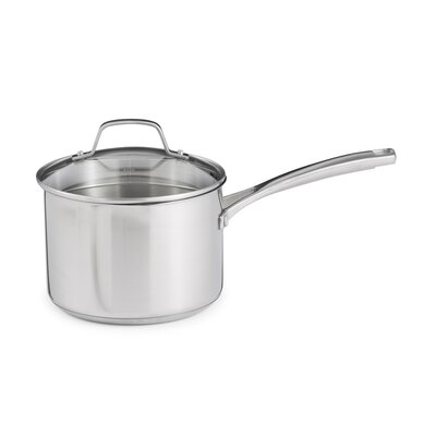Stainless Steel Saucepan with Lid Size: 3.5-qt.