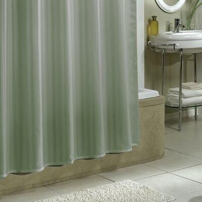 Darmstadt Damask Stripe Shower Curtain Liner Color: Sage