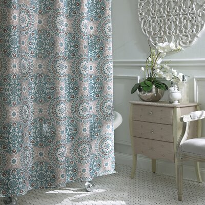 Esher Shower Curtain Color: Turquoise