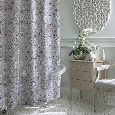 Esher Shower Curtain Color: Grey Purple