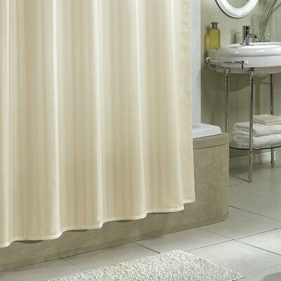 Darmstadt Damask Stripe Shower Curtain Liner Color: Champagne
