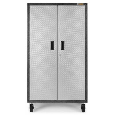 Ready-to-Assemble Mobile Storage Cabinet 66'' H x 36'' W x 18'' D Steel