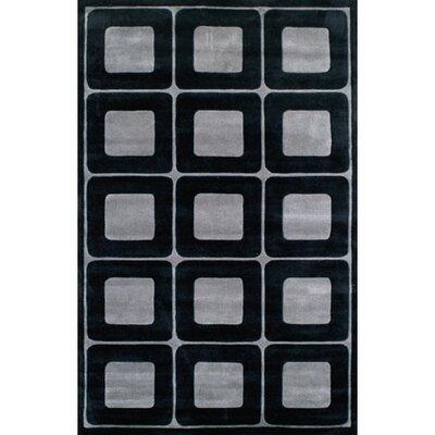 American Home Rug Co. Modern Living Deco Blocks Black/Gray Rug