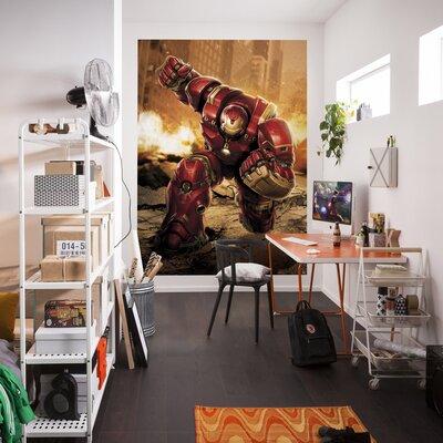 Komar Avengers Hulkbuster 2.54m L x 184cm W 4 Pieces Roll Wallpaper