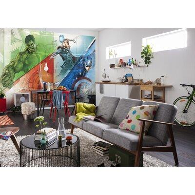 Komar Avengers Graphic Art 2.54m L x 368cm W 4 Pieces Roll Wallpaper
