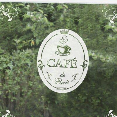 Komar Café de Paris Window Sticker