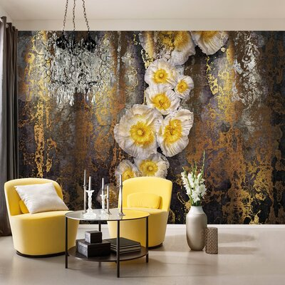 Komar 8 Piece Serafina Flower Wall Mural Set