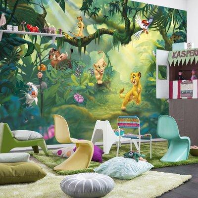 Komar Lion King Jungle 2.54m L x 368cm W 4 Pieces Roll Wallpaper