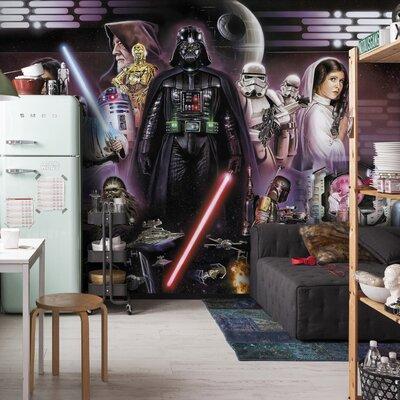 Komar Star Wars Darth Vader Collage 2.54m L x 368cm W 4 Pieces Roll Wallpaper