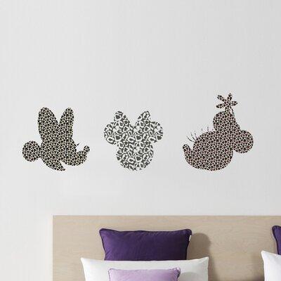 Komar Disney 3 Piece Minnie Art Freestyle Deco Wall Sticker Set