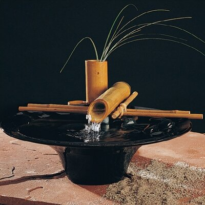 Ceramic Nature Bowl Small Tabletop Fountain