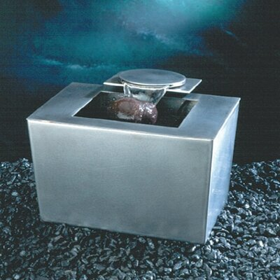 Ceramic Saa-Deh Stainles Steel Rectangle Tabletop Fountain