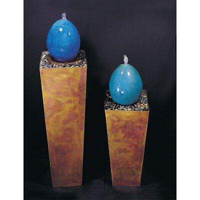 "Ceramic Indoor Simple Delight Floor Fountain Size: 36"" H, Finish: Copper-Flame, Indoor or Outdoor Use: Indoor"