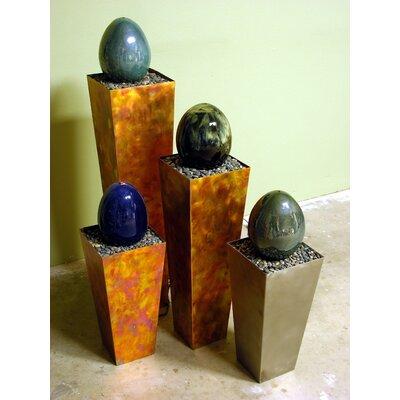 """Ceramic Indoor Simple Delight Floor Fountain Size: 36"""" H, Finish: Stainless Steel-Swirl, Indoor or Outdoor Use: Indoor"""