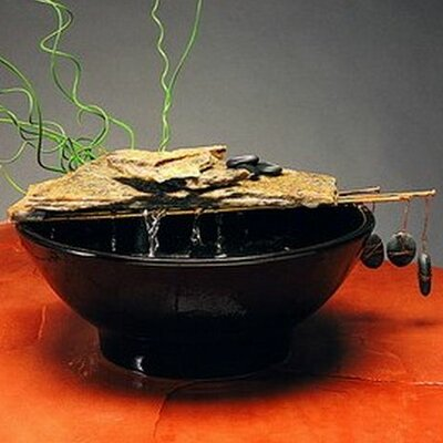 Ceramic Nature Bowl Tabletop Fountain